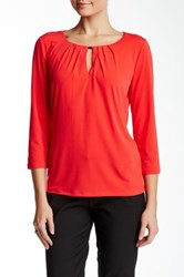 T Tahari Justina Knit Blouse Red