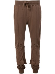 Haider Ackermann Gathered Ankle Track Pants Brown