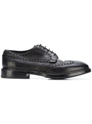 Premiata Embossed Surface Oxford Shoes Black