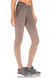 Blue Life Strappy High Waist Leggings Taupe