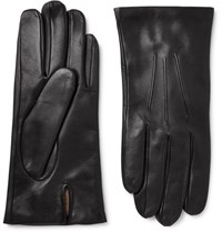 Dents Bath Cashmere Lined Leather Gloves Black