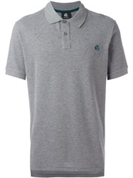 Paul Smith Ps By Chest Embroidery Polo Shirt Grey