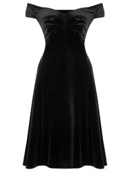 Ariella Danna Off The Shoulder Velvet Dress Black