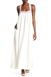 Free People Softly Structured Colorbock Maxi Dress White