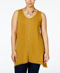 Nanette Lepore By Plus Size Embroidered Tank Top Only At Macy's Orange