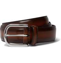 Andersons 3.5Cm Brown Burnished Leather Belt