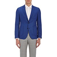 Brooklyn Tailors Men's Textured Weave Sportcoat Blue