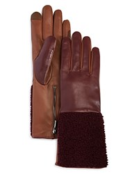 Echo Shearling Sheepskin Gloves Pomegranate