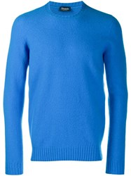 Drumohr Slim Fit Wool Sweater Blue