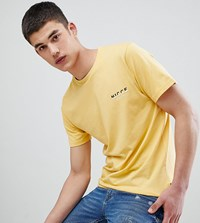 Nicce London Tall T Shirt In Yellow With Split Logo Exclusive To Asos