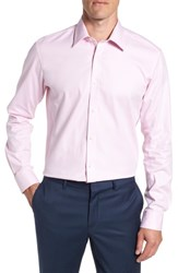 Ted Baker Big And Tall London Trim Fit Dress Shirt Pink