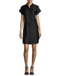 Rag And Bone Ara Short Sleeve Poplin Shirtdress Navy