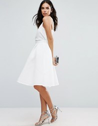 Jessica Wright Textured Prom Skirt White