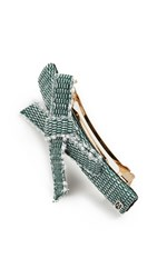 Alexandre De Paris Bow Barrette Green