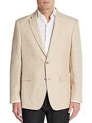 Tommy Hilfiger Regular Fit Linen Sportcoat Light Tan