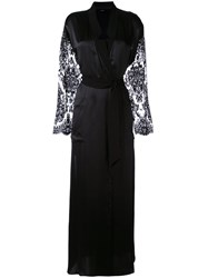 La Perla Lace Sleeve Robe Black