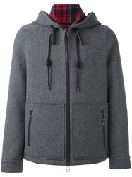 Lanvin Casual Zipped Hooded Jacket Grey