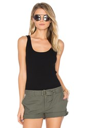 Leo And Sage Rib Fitted Tank Black