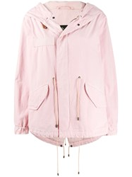 Mr And Mrs Italy Hooded Parka Pink