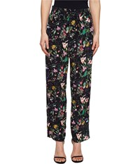 The Kooples Pantalon En Viscose Imprime Folklo Pants Black Women's Casual Pants