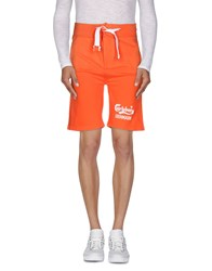 Carlsberg Trousers Bermuda Shorts Men Orange