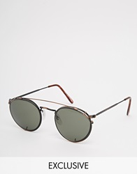 Reclaimed Vintage Round Sunglasses Copper
