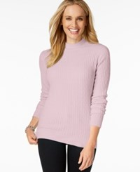 Karen Scott Mock Turtleneck Knit Sweater Only At Macy's Pink Ice