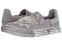 Blowfish Kamile Light Grey Hipster Smoked Twill Faux Suede Slip On Shoes Gray
