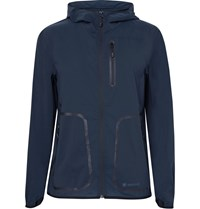 Snow Peak Hooded Water Resistant Shell Parka Blue