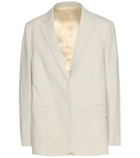 Acne Studios Wynn Linen And Cotton Blazer Neutrals