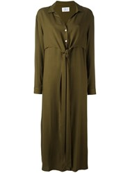 Libertine Libertine 'Effect' Maxi Shirt Dress Green