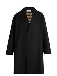 Issey Miyake Single Breasted Gabardine Coat Black