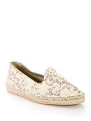 Cole Haan Palermo Lace And Metallic Canvas Espadrilles