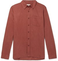 Outerknown Brushed Organic Cotton Flannel Shirt Red