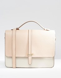 Asos Satchel Bag With Slot Through Tab Multi