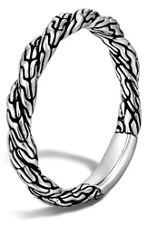 John Hardy 'Classic Chain' Twisted Band Ring Silver