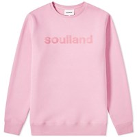 Soulland Logic Logo Crew Sweat Pink