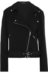 Kate Moss For Equipment Roxana Silk Jersey Biker Jacket Black