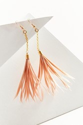 Fiona Paxton Iona Feather Drop Earring Tan