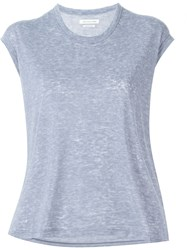 Isabel Marant A Toile 'Dobson' Heathered T Shirt Pink And Purple