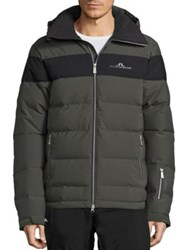 J. Lindeberg Crillon Quilted Down Jacket Dark Green