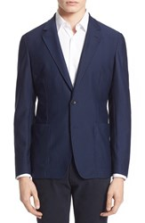 Men's Armani Collezioni Textured Stretch Knit Sport Coat
