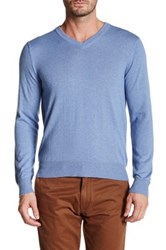Qi V Neck Pullover Blue