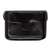Christophe Lemaire Black Leather Card Case