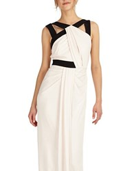 Phase Eight Contrast Column Gown Chalk