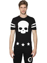 Hydrogen Skull And 17 Printed Cotton Jersey T Shirt