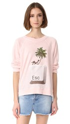 Wildfox Couture Escape Sweatshirt Seashell Pink
