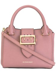 Burberry Buckled Strap Tote Pink Purple
