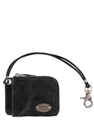 Dsquared2 Leather Card Holder With Pocket Chain
