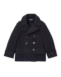 Ralph Lauren Melton Wool Blend Peacoat Size 5 7 Blue
